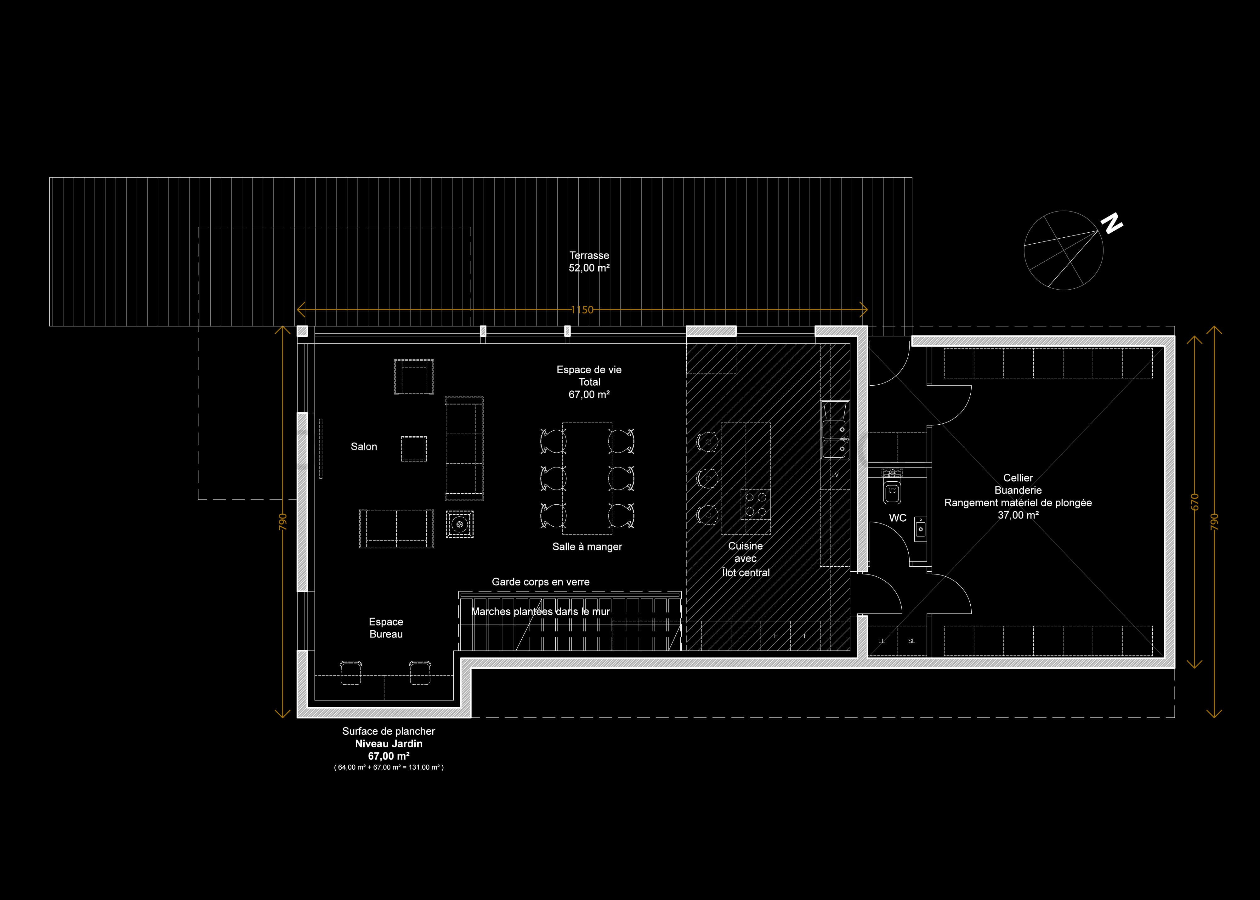 2017 02 02 (2016-007) PROJET 1 - 003 - Plan du niveau jardin